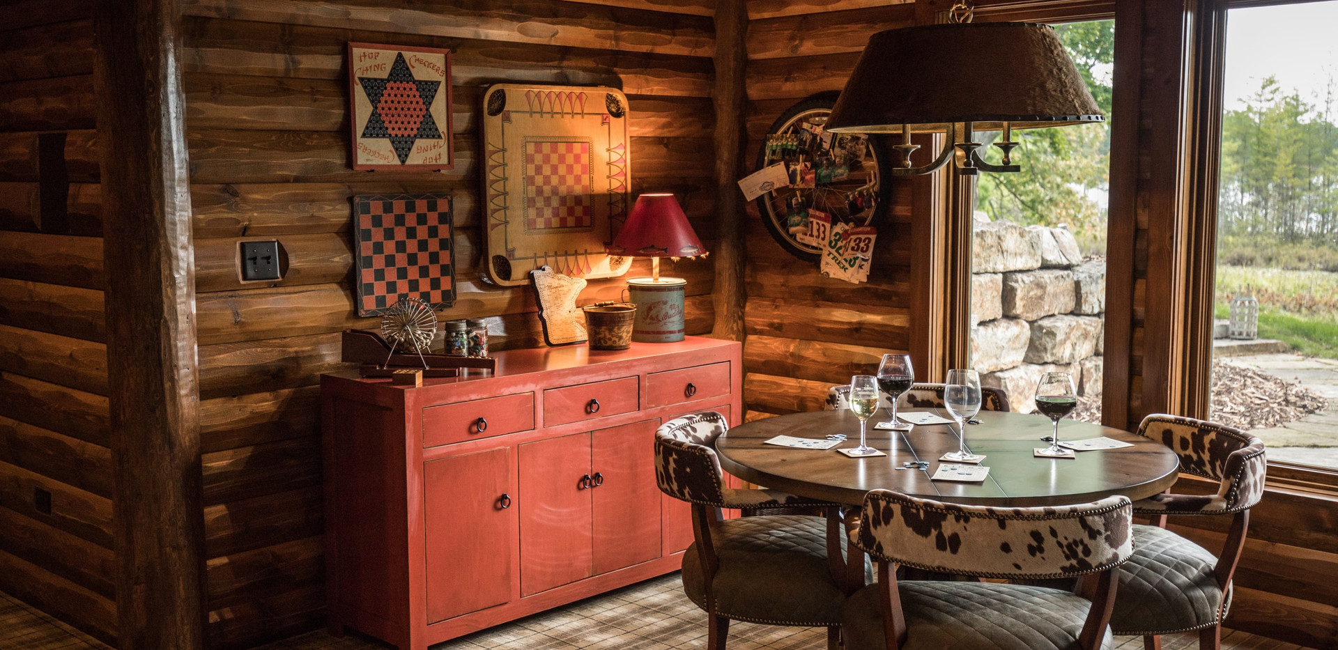 Traditional Chalet Cabin Game Room