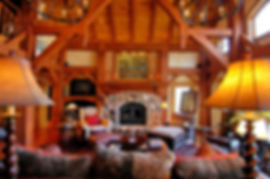 Traditional timber frame home living room furniture