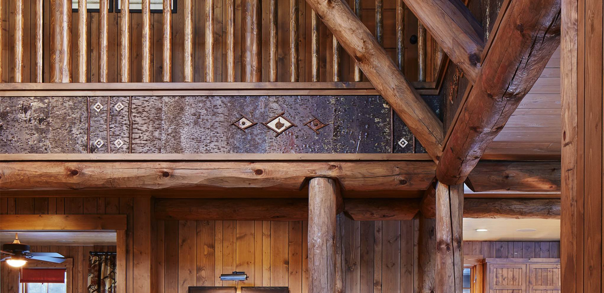 Traditional Cabin Lake Home Interior Detail