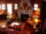 Vintage log cabin remodel gas insert fireplace