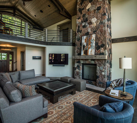 Contemporary lake home Great Room