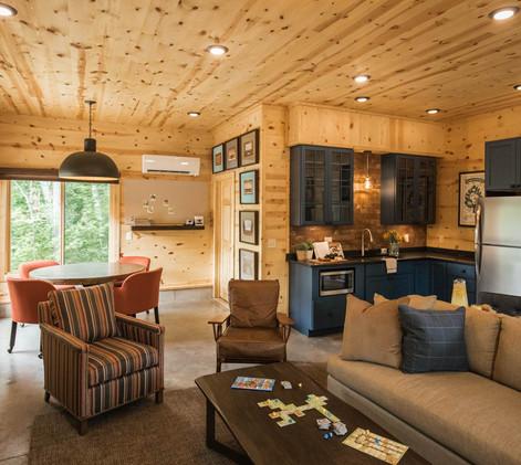 Contemporary Cabin Studio Remodel