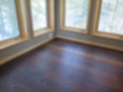 Mafi oak flooring in contemporary Wisconsin lake home cabin