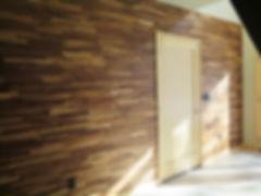 Wood ledgestone horizontal interior accent wall