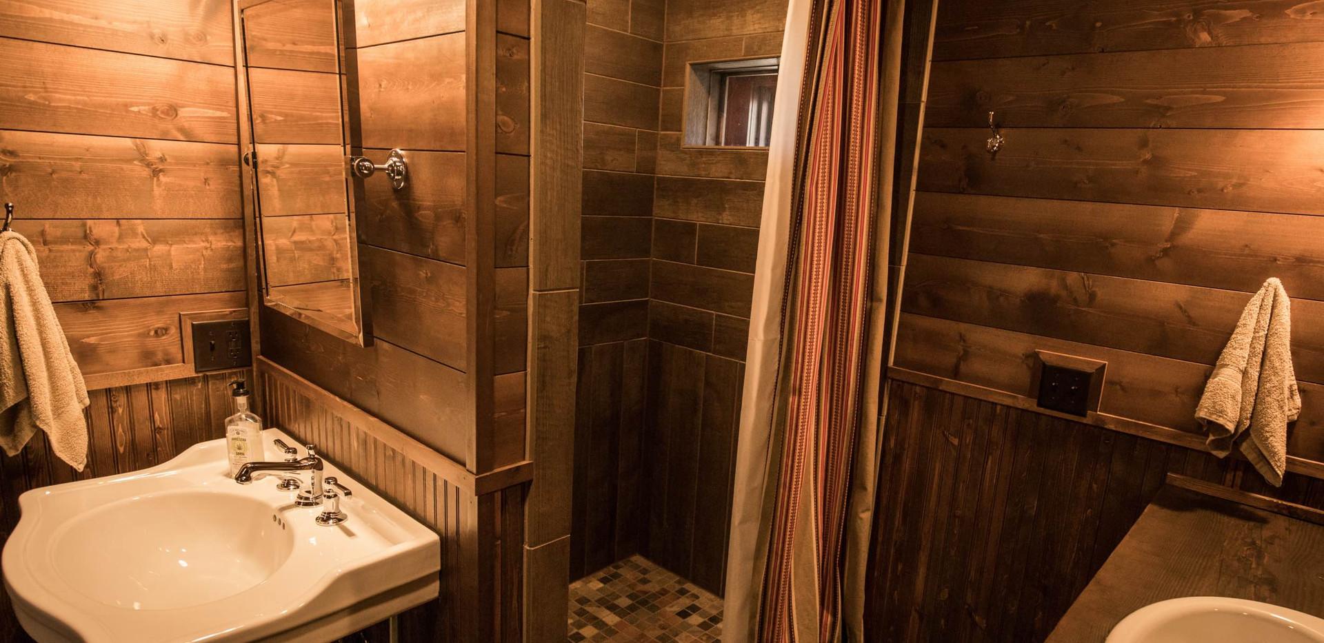 Vintage Cabin Shower