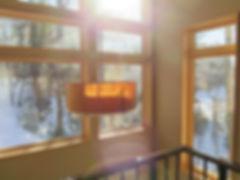 Round cork shade drop pendant entry light