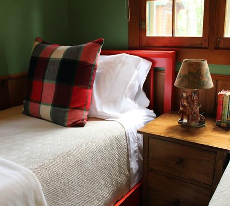 Vintage Cabin Remodel Twin Painted Bed Frames