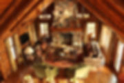 Log lodge lake home velvet drape window coverings