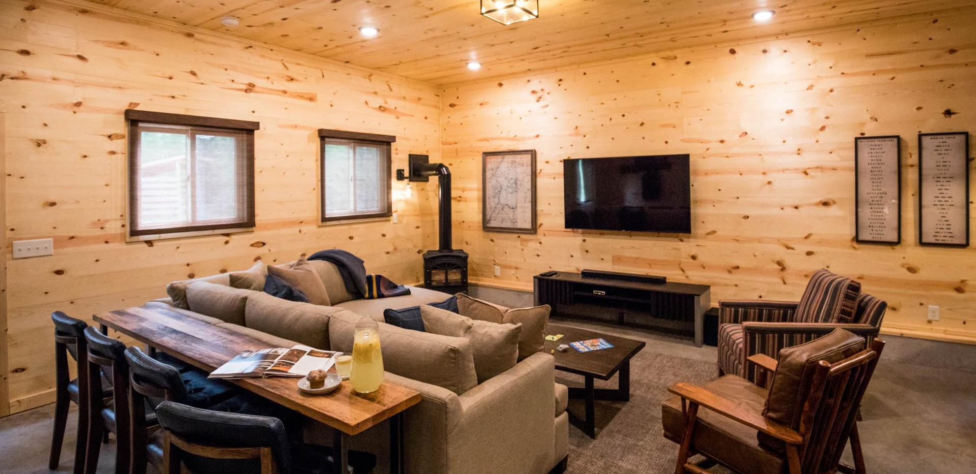 Contemporary Cabin Studio Living Area