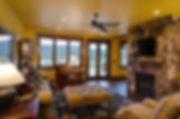 Colorado mountain home traditional family room seating area