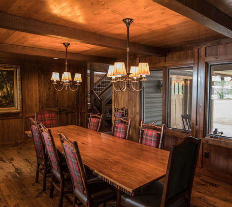 Traditional Chalet Cabin Dining Room