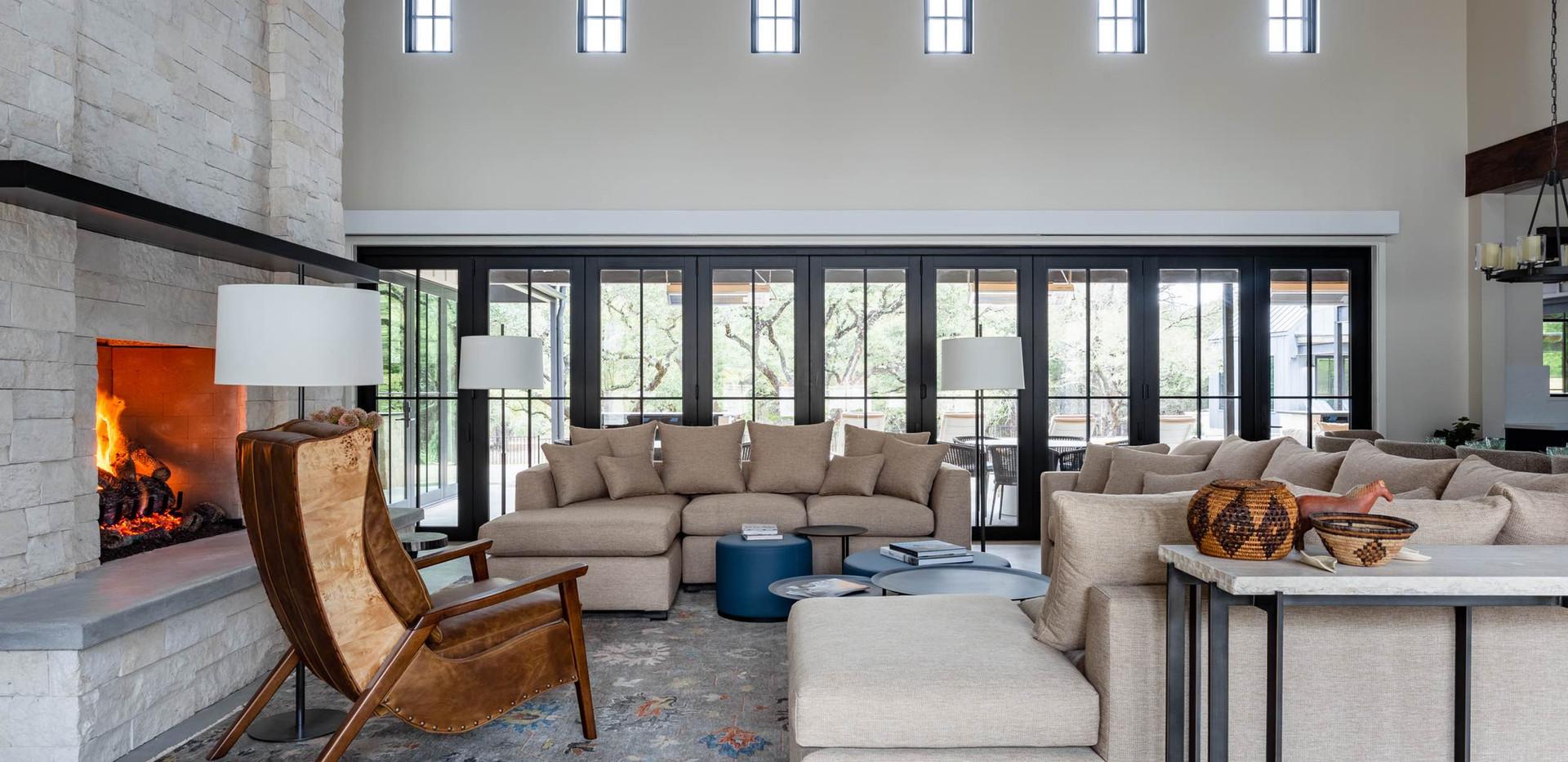 Contemporary farmhouse Great Room