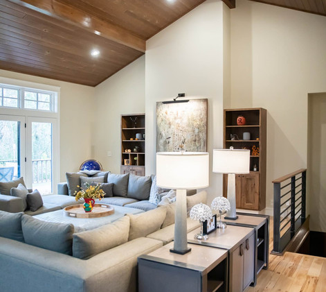 Contemporary Ranch Remodel Great Room