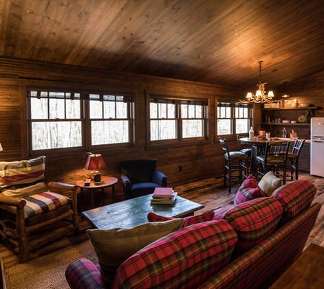 Vintage Cabin Living Area