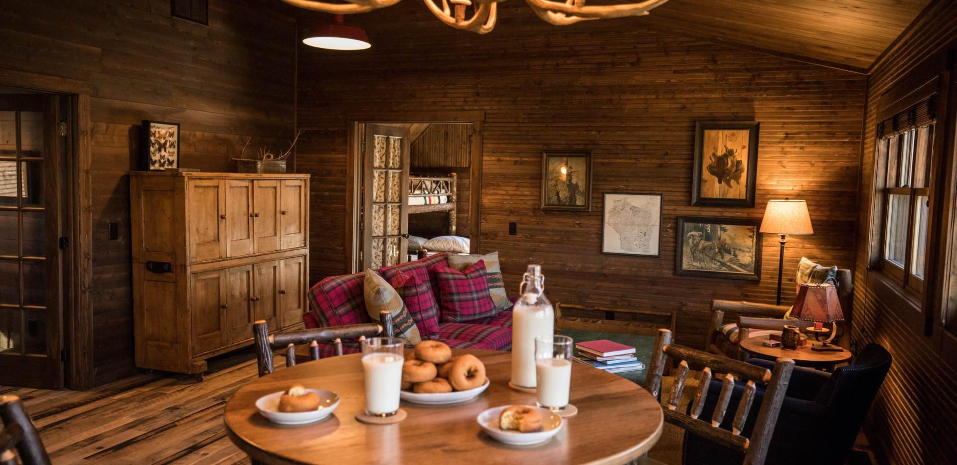 Vintage Cabin Dining Room