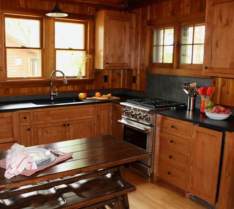 Vintage Cabin Remodel Kitchen