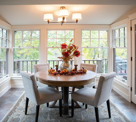 Contemporary Ranch Remodel Dining Room
