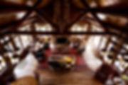 Wisconsin log lodge lake home great room