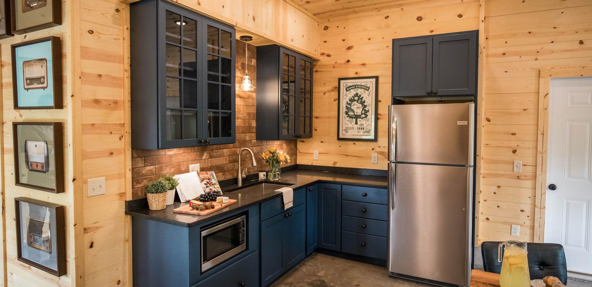 Contemporary Cabin Studio Kitchenette