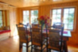 Vintage log cabin dining room addition