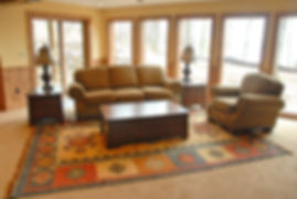 Traditional rolled arm sofa and club chair family room furniture