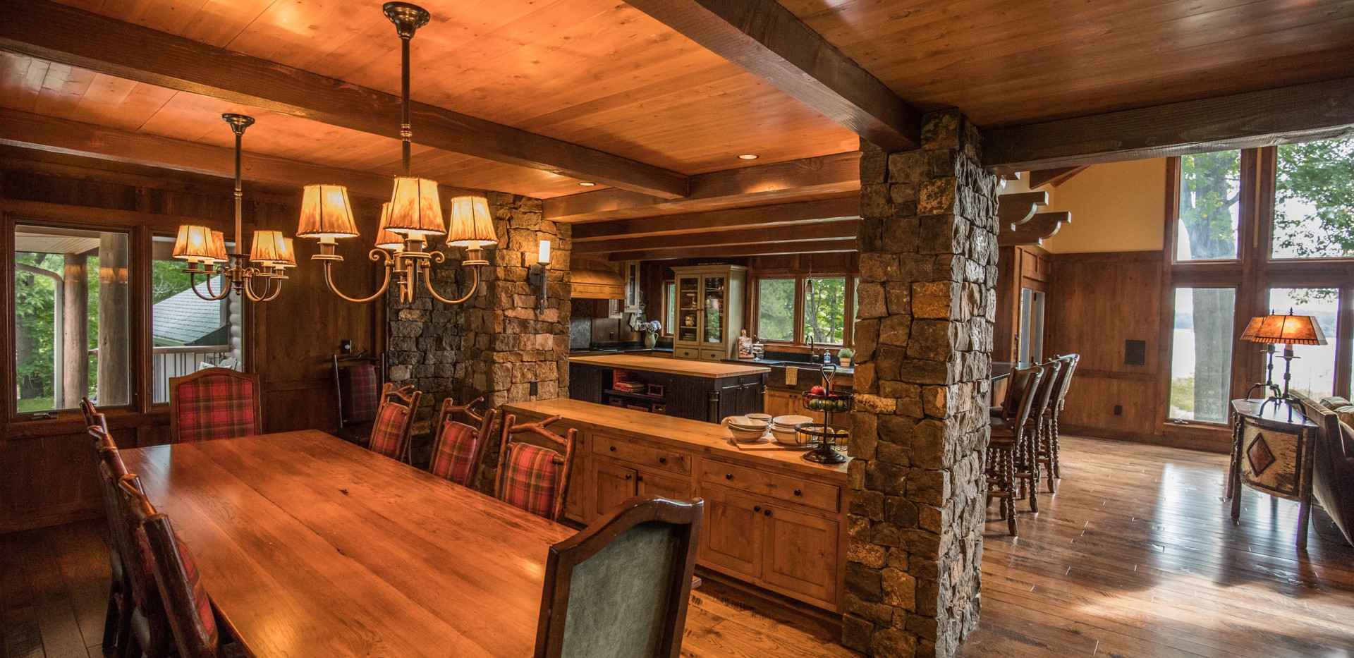 Traditional Chalet Cabin Dining Room Buffet