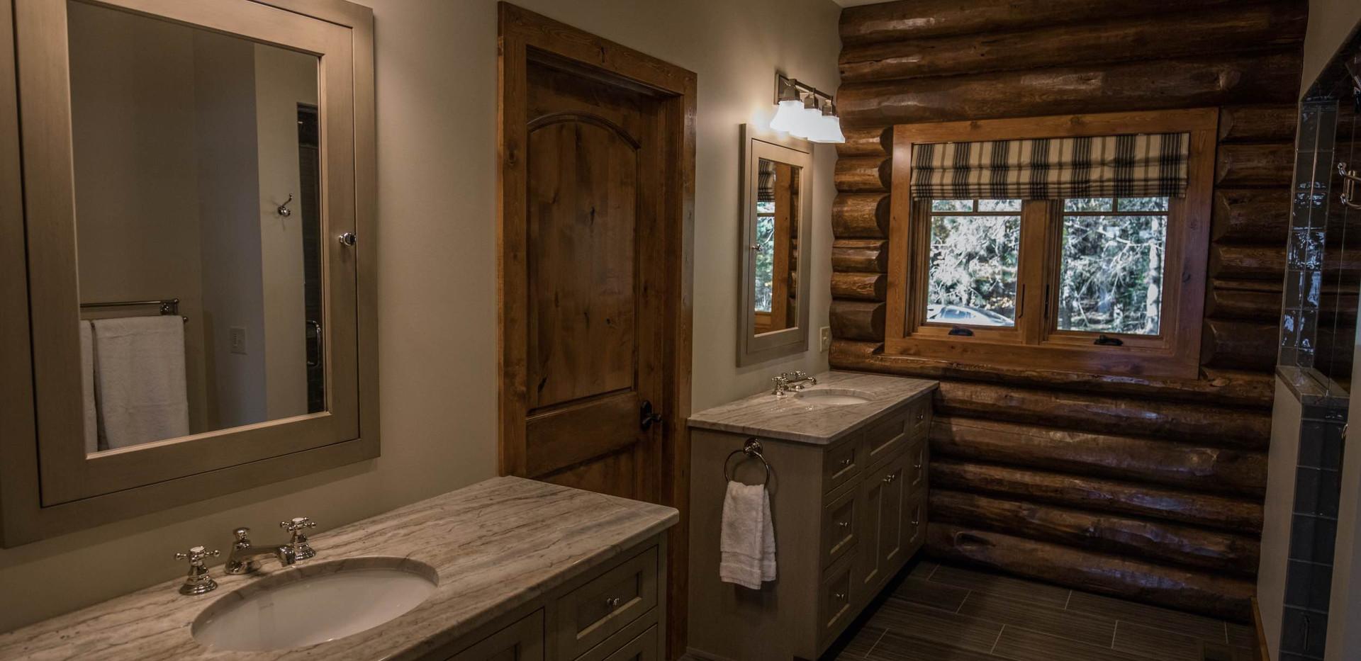 Traditional Log Home Master Bathroom