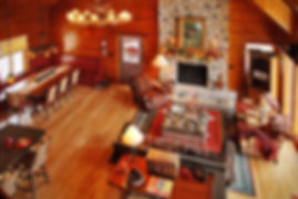 Northwoods lake chalet great room