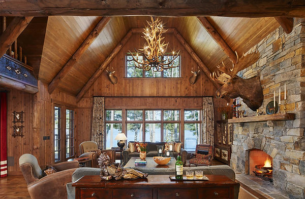 Traditional-Cabin-Lake-Front-Grand-Livin