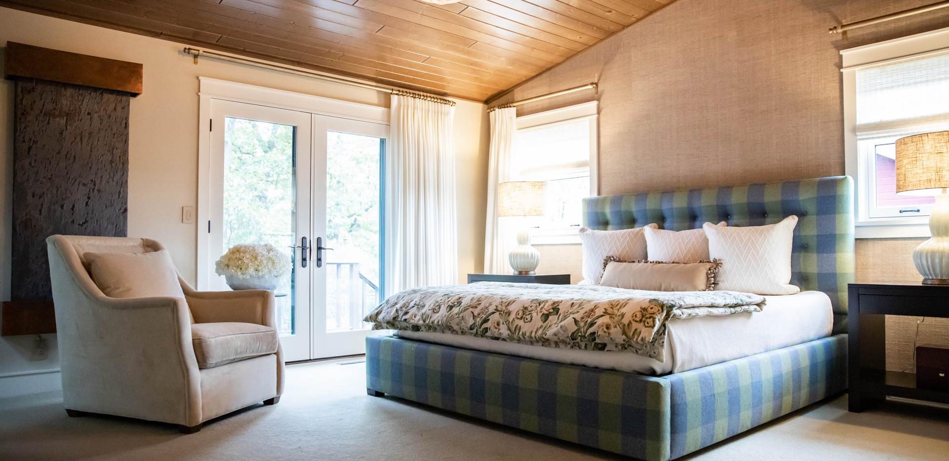 Contemporary Ranch Remodel Master Bedroom