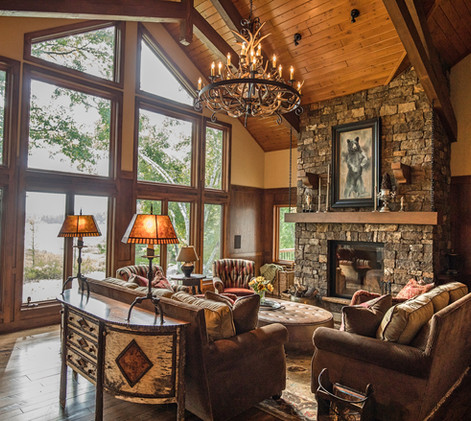 Traditional Lake Home Chalet Antler Chandelier