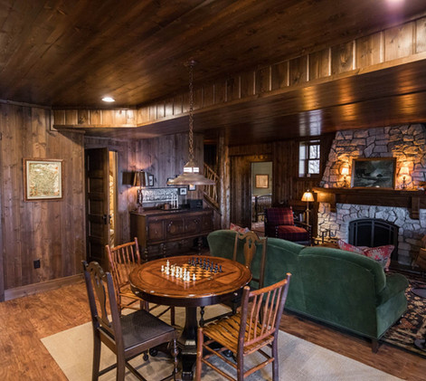 Vintage Cabin Game Area