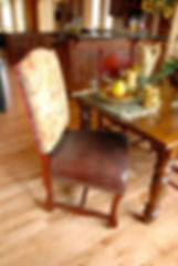Parker Southern fabric leather dining chair combination