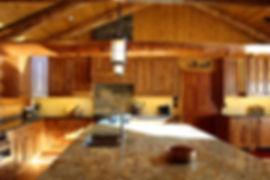 Log Cabin Kitchen Stone Stove Backsplash