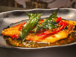 Fried Seabass Ganlangal