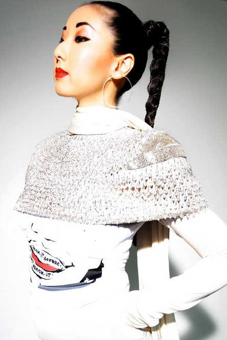 Beatrix Ong designer as Sade for Hep C Campaign  Photography by Boy George