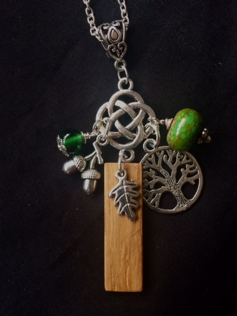 Irish Oak and  Magnesite Pendant