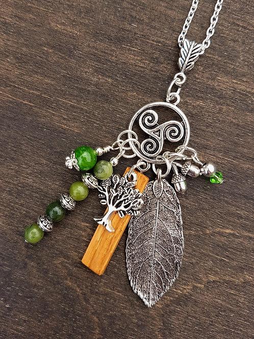 Irish Oak Birthwood Charm Necklace June 10th - July 7th