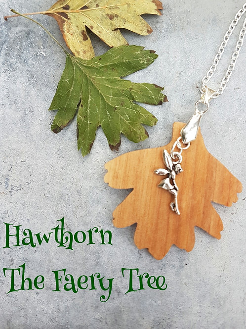 Irish Hawthorn Necklace with Faery Charm