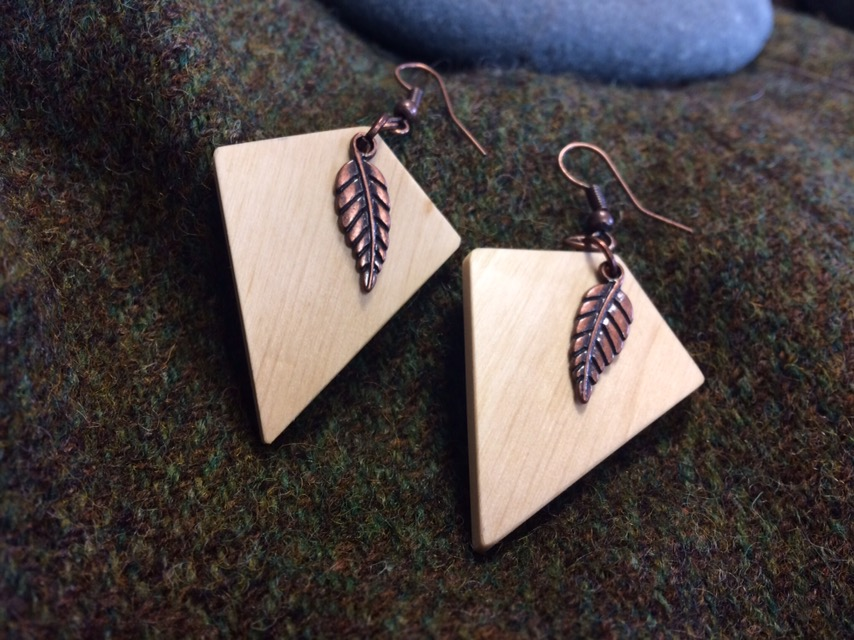 Irish Hazel and Copper Earrings