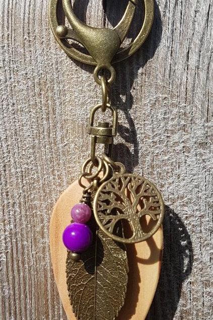 Irish Willow Birthwood Keyring or Bag Charm