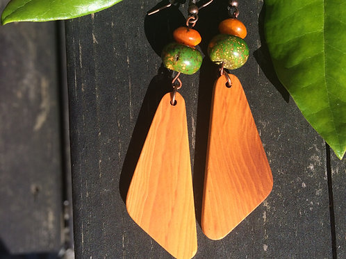 Irish Hawthorn and Gemstone Earrings