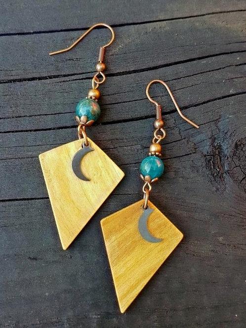 Be Different Irish Birch and Gemstone  Earrings