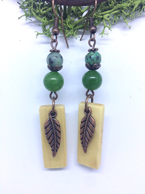 Irish Hazel Wood Earrings