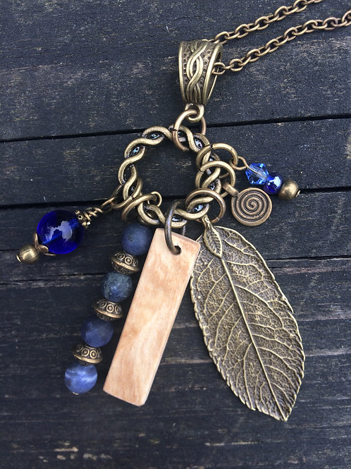 Irish Birch Birthwood Charm Necklace December 24th - January 20th