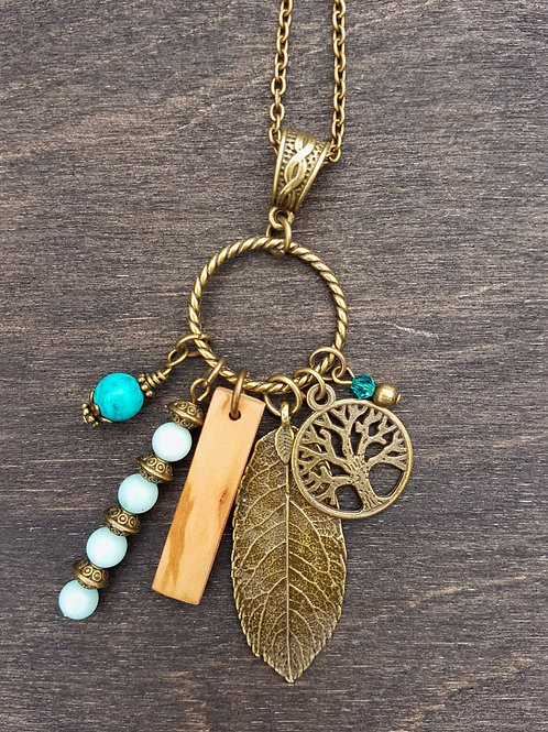 Irish Vine Birthwood Charm Necklace September 2nd - September 29th