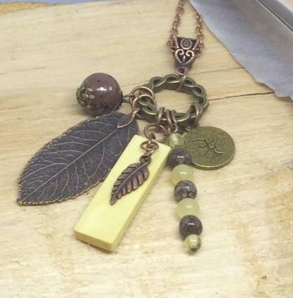 Irish Hazel and Copper Pendant