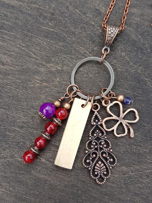 Irish Holly Birthwood Charm Necklace July 8th - August 4th
