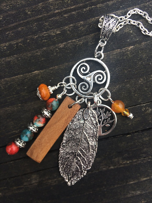 Irish Ivy Birthwood Charm Necklace September 30th - October 27th