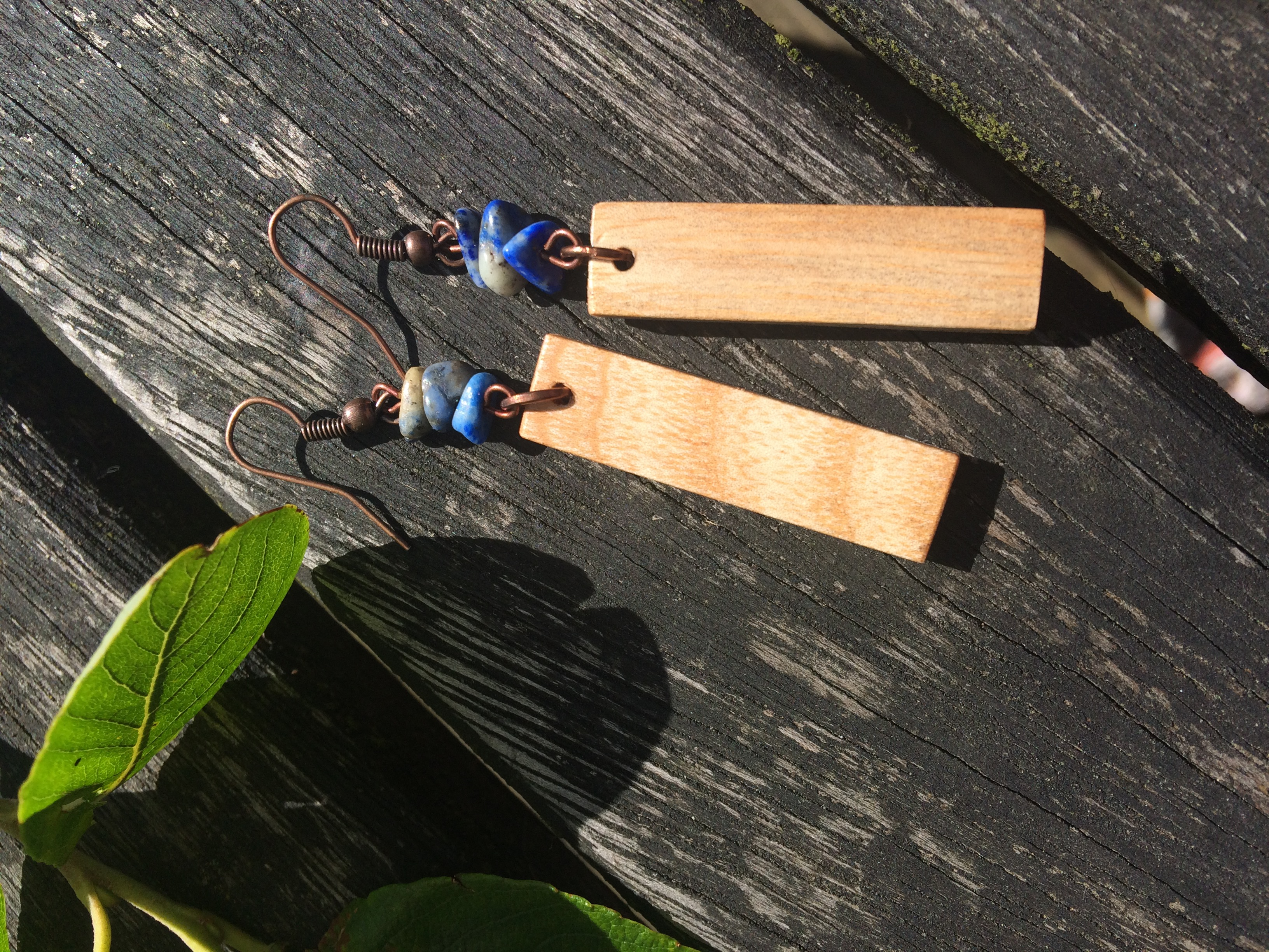 Ash and Lapis Lazuli Earrings